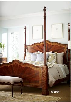 mahogany four post bed uk king